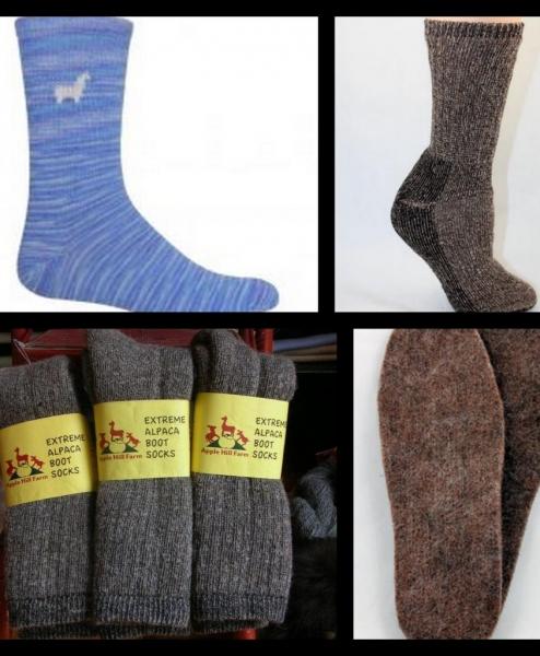 Alpaca Socks, Slippers, & Insoles